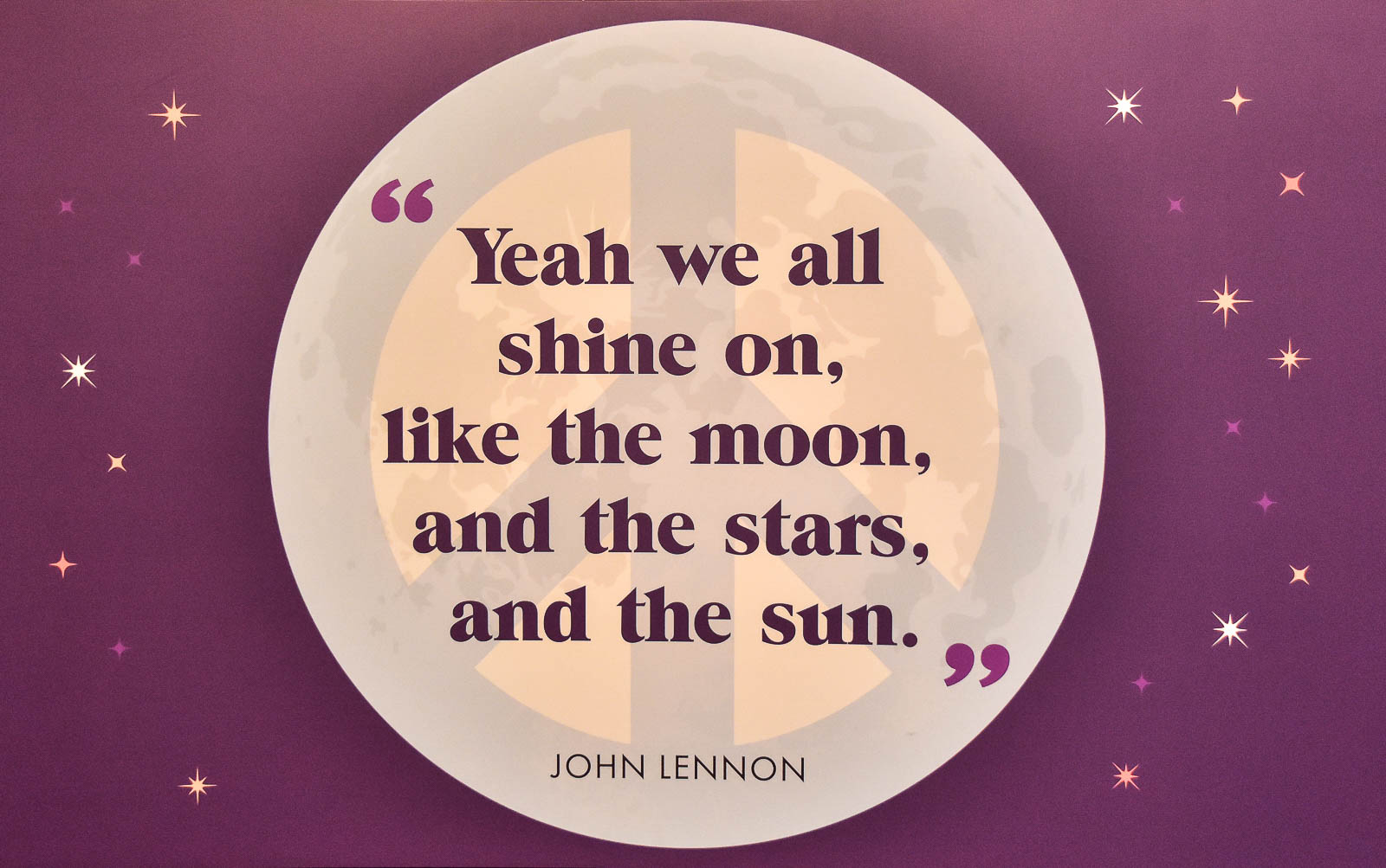 Yeah we all shine on, John Lennon